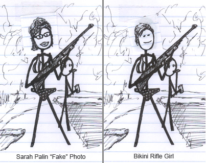 sarah palin bikini photos. Sarah Palin Bikini Photo (fake