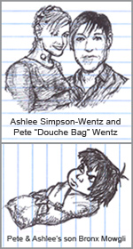 Ashlee Simpson Pete Wentz and Bronx Mowgli Wentz