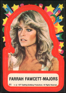 Farrah Fawcett sticker
