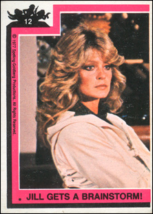 Farrah Fawcett trading card as Jill Munroe