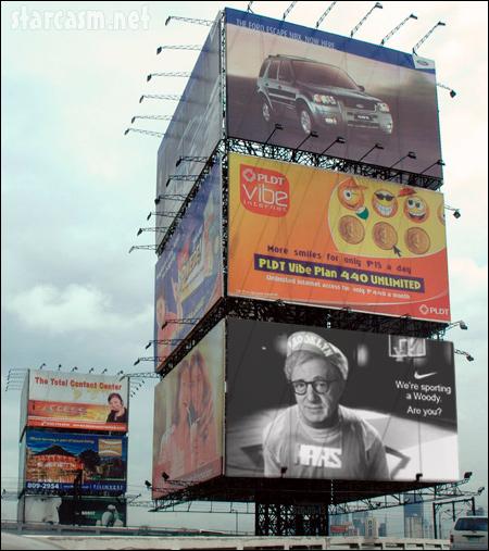 Woody Allen Nike billboard