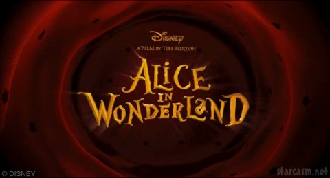 Alice in Wonderland by Tim Burton title screen
