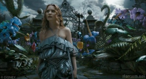 Mia Wasikowska in Alice in Wonderland by Tim Burton