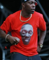 Dizzee Rascall performs at The Party in the Park in Leeds