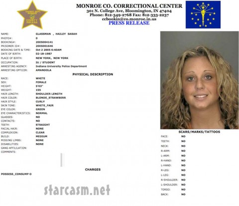 Hailey Glassman arrest report