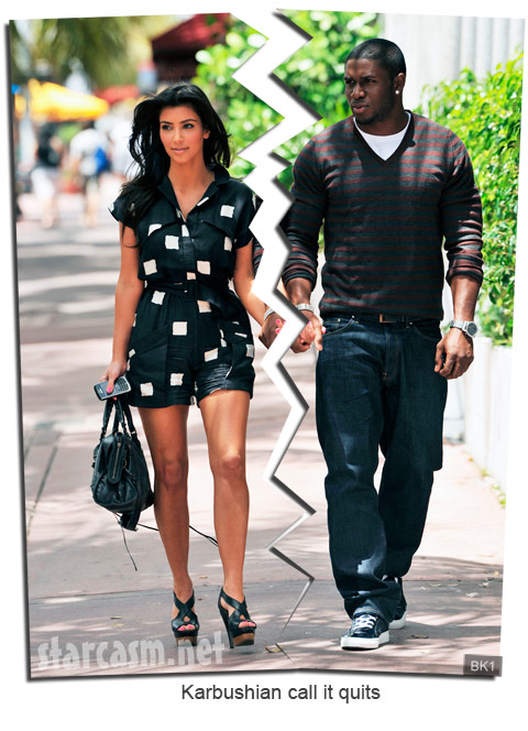 Kim Kardashian and Reggie Bush split up