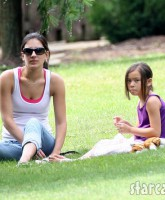 Jon Gosselin and babysitter girlfriend Stephanie Santoro spend a nice day in the park with the children.