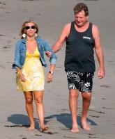 Ryan O'Neal grieves for Farrah Fawcett with two random blonde women on the beach