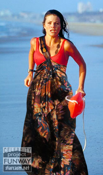 Yasmine Bleeth modeling Althea Harper's surfwear-inspired design from ...