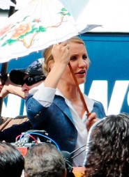 Cameron Diaz from the set of The Green Hornet, due to hit theaters December 17, 2010