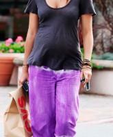 Matthew Mcconaughey's pregnant girlfriend Camila Alves takes a stroll in Malibu