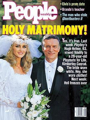 Hugh Hefner Is Making Headlines Because Hes Divorcing His Wife Of 20 Years Kimberly Conrad They Got Married In 1989 And Have Been Separated Since 1999