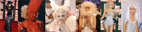 Lady Gaga and her assortment of costumes at the 2009 MTV Video Music Awards VMA