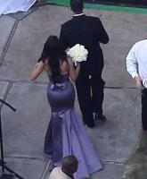 Kim Kardashian was bridesmaid Sunday at sister Khloe's wedding to Lamar Odom