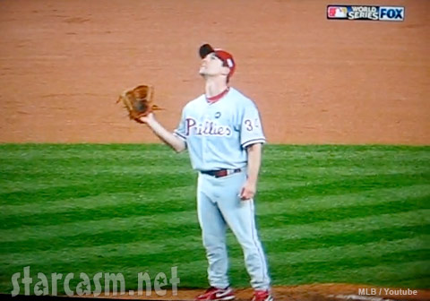 Phillies Cliff Lee catch