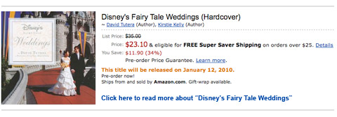 Disney's Fairy Tale Weddings by David Tutera
