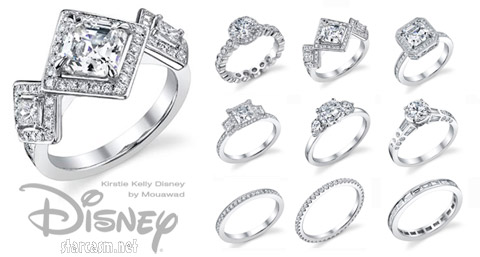 The rings which include the matching wedding bands are in addition to