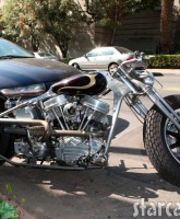 Brad Pitt's custom motorcycle after the crash