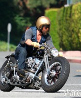 Brad Pitt's custom chopper