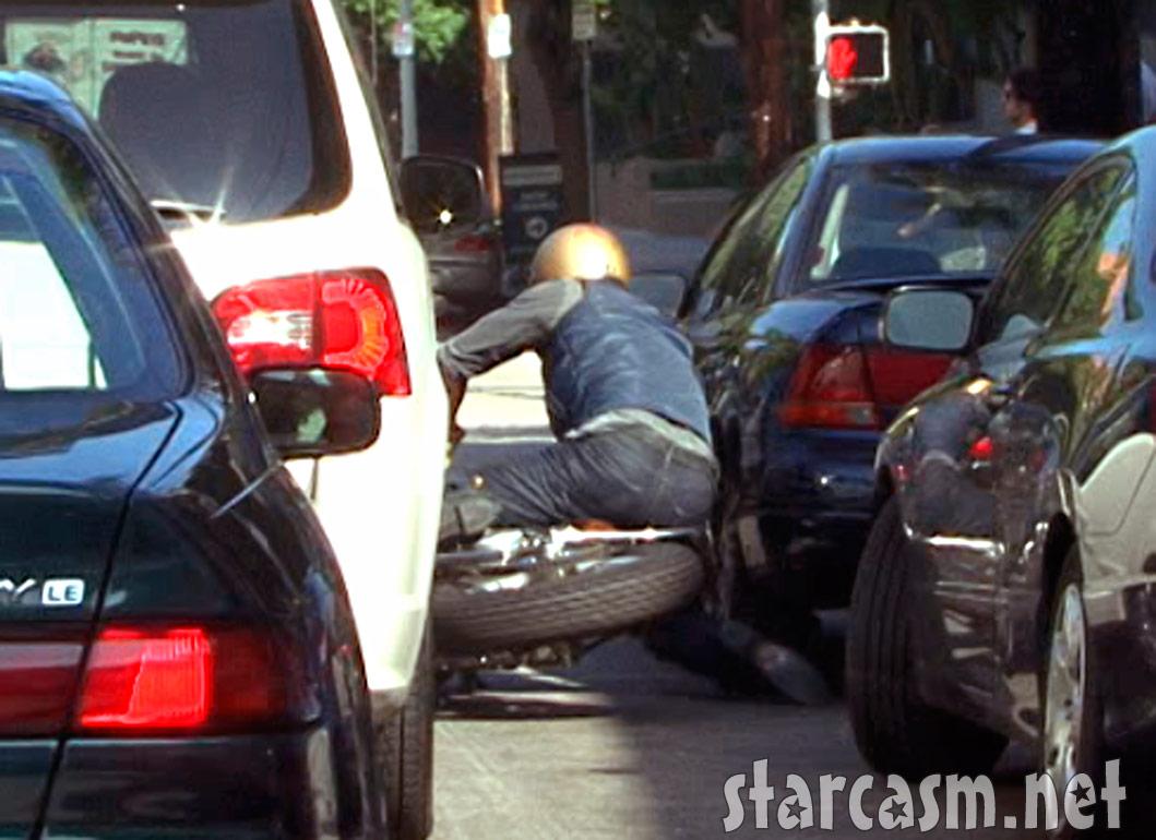 Pics photos brad pitt on motorcycle - Brad Pitt Motorcycle Crash