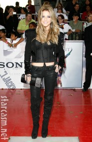 Julianne Hough all in black at Michael Jackson's This Is It Premiere