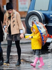 Matilda Ledger is walking on sunshine in spite of the rain
