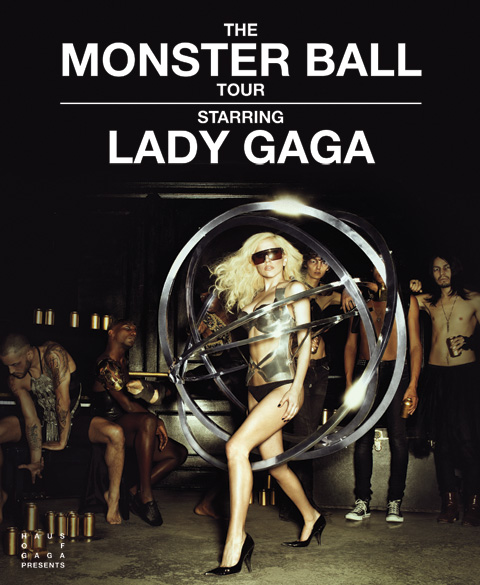 Concert poster for The Monster Ball Tour starring Lady Gaga