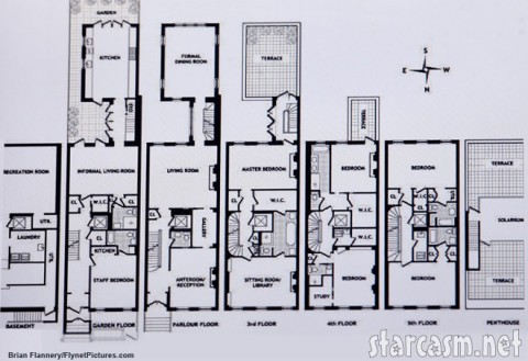 Floor plan for Katie Holmes and Tom Cruise's new house at 42 West 12th St.