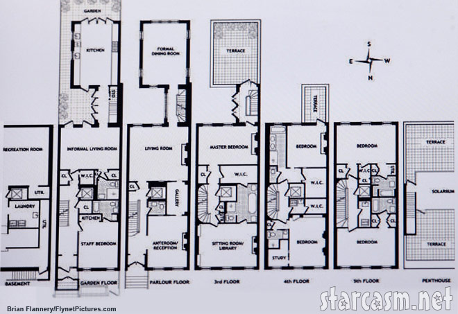 Floor plan of the new home purchased by Tom Cruise and Katie