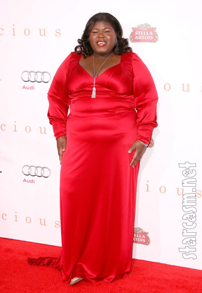 Gabourey Sidibe arriving at the Premiere of Precious in Hollywood