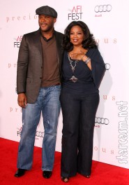 Oprah and Tyler Perry arrive at the Premiere of Precious