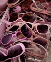 Kitten Kay-Sera's collection of pink sunglasses