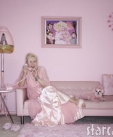 Kitten Kay-Sera the Pink Lady in her pink living room