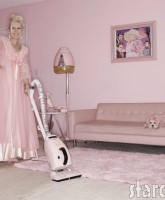 Kitten Kay-Sera shows that pink can suck - when it's a vacuum cleaner
