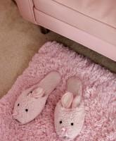 Kitten Kay-Sera's pink bunny slippers