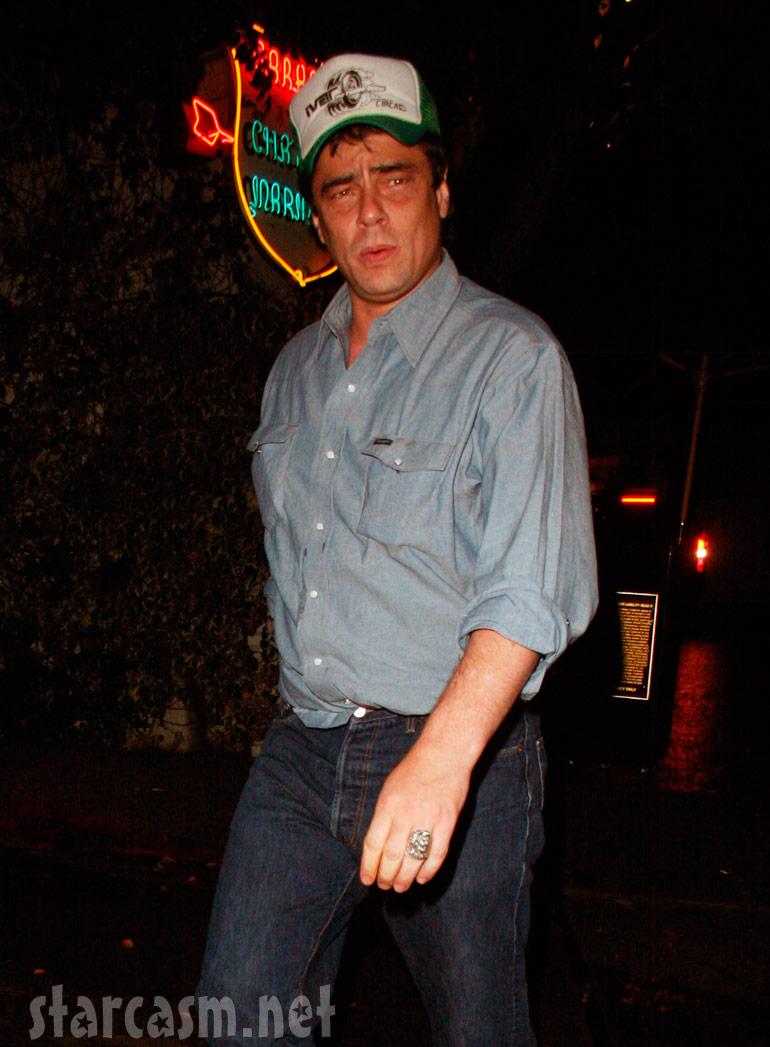 Benicio Del Toro in a Trucker