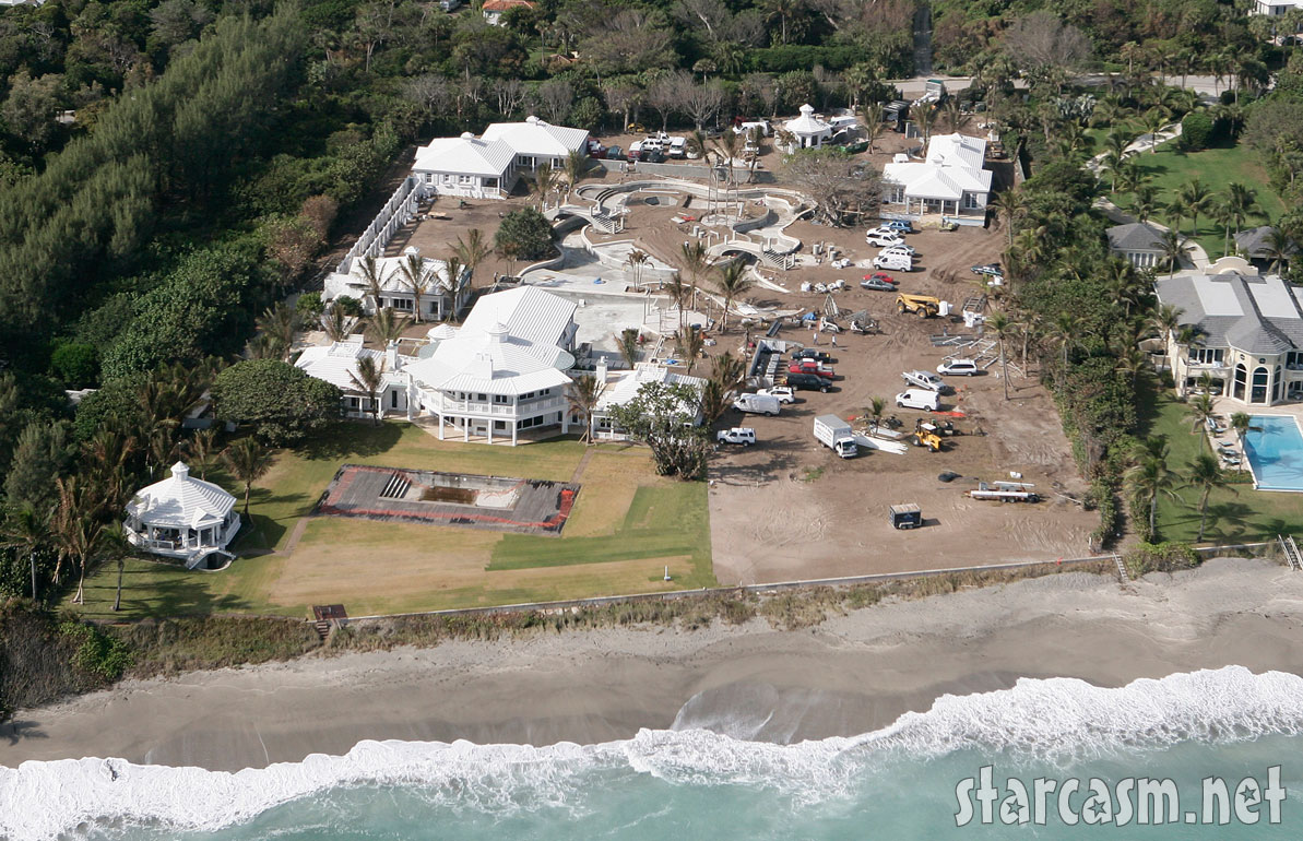 PHOTOS Celine Dion's home and backyard water park on Jupiter ...