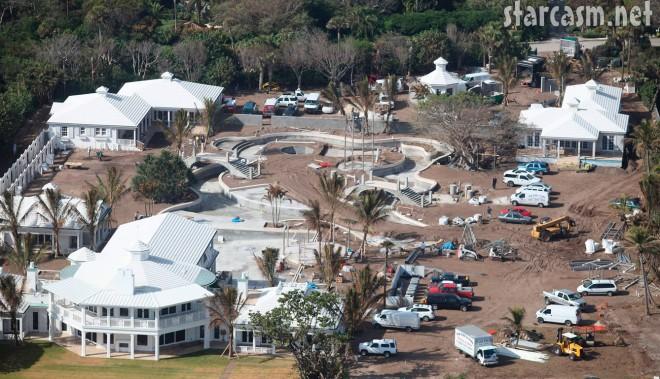 November 21 2009 aerial photo of Celine Dion's Jupiter Island estate under construction