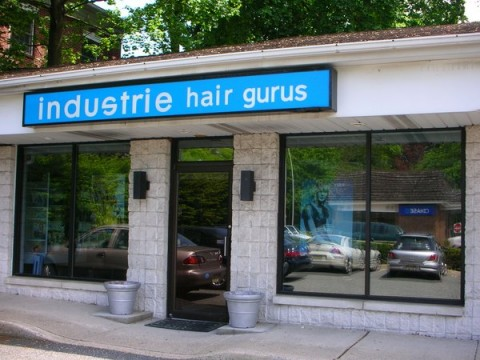 Outside of Tabatha Coffey salon in New Jersey