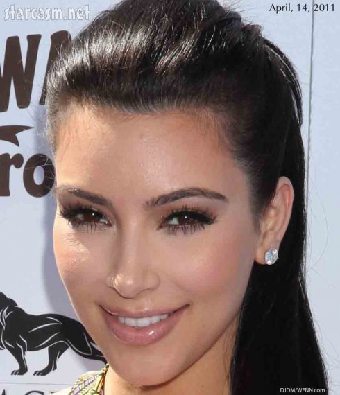 kim kardashian without makeup before. plastic surgery efore and