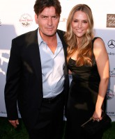 Charlie Sheen and wife Brooke Mueller May 31, 2008