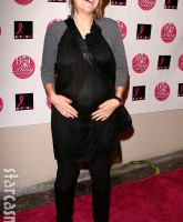 Charlie Sheen's wife Brooke Mueller while pregnant with their twins October 19, 2008