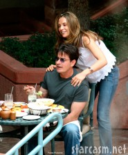 Charlie Sheen and girlfriend Brooke Mueller in Aspen July 5, 2006