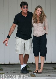 Brooke Mueller and husband Charlie Sheen looking blissful 8-26-07