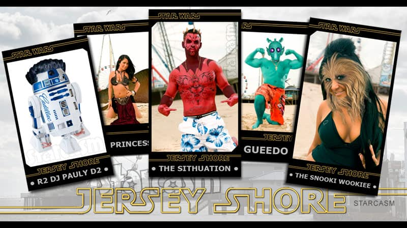 Jersey Shore Star Wars cards all