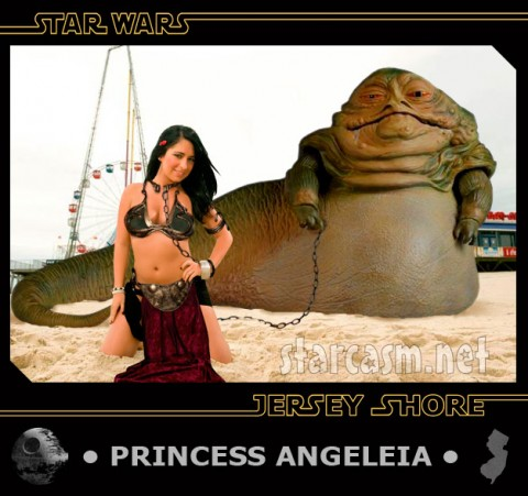 Princess AngeLeia from the Star Wars Jersey Shore trading cards set