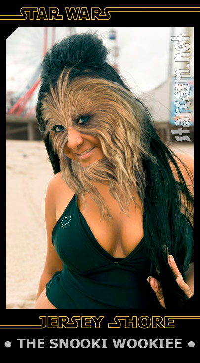 Snooki the Wookiee from the Star Wars Jersey Shore trading cards set