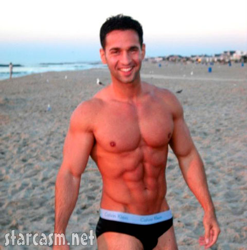 Jersey Shore's The Situation as a young man already had his six pack