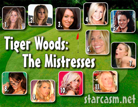 Tiger Woods mistresses