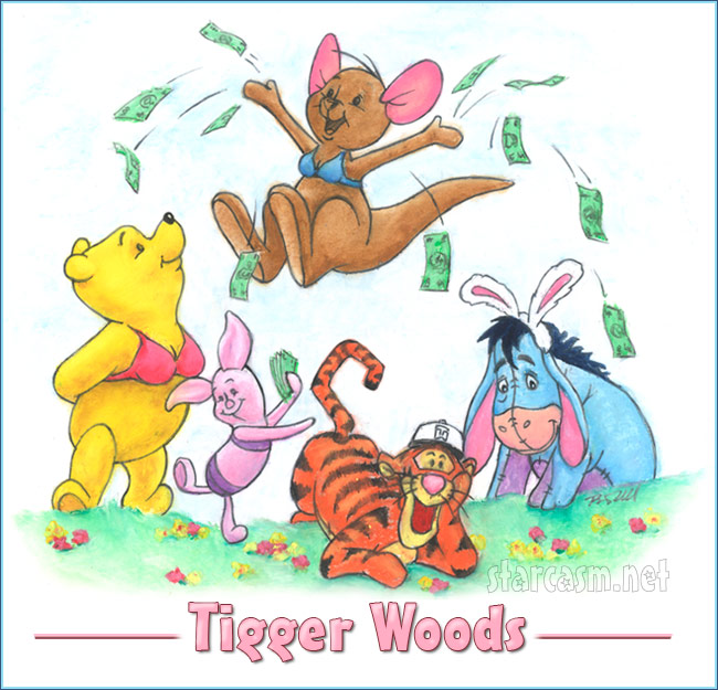 Worksheet. Tiger Woods as Tigger and Winnie the Pooh Eeyore Piglet and Roo as